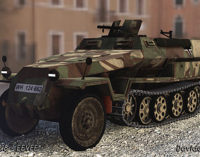 Half-track SDKFZ C military German Truck 3D model