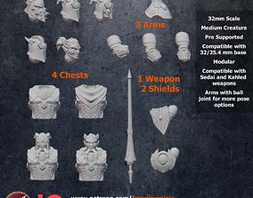 3D print model Modular Male Draenei - Complete Set