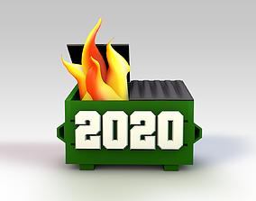 2020 Dumpster Fire 3D print model
