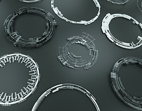 3D PBR Tech Circles TC3