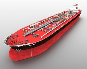 Huashan VLCC tanker oil cargo ship 3D model