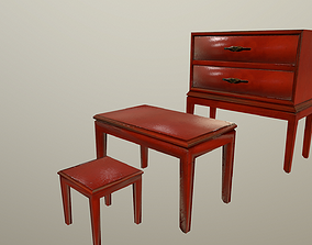 3D model Red wooden furniture