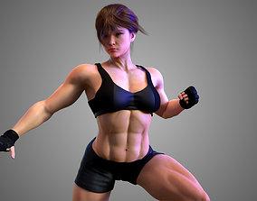 3D model Female Asian BOX - MMA Fighter