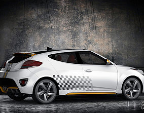 Hyundai Veloster Turbo std mat 3D model