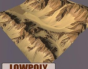 Lowpoly Mountain 3D asset realtime