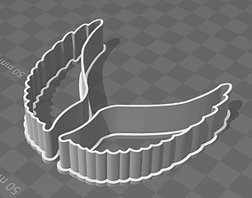 Two Wings Cookie Cutters 3D print model