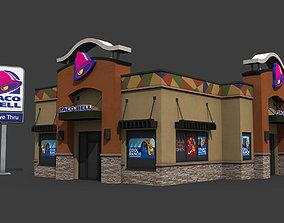 Taco Bell Restaurant 3D asset VR / AR ready