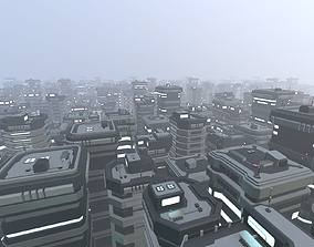 sci Lowpoly Modular Scifi Building Pack 3D