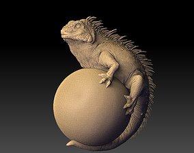iguana cartoon 3D model