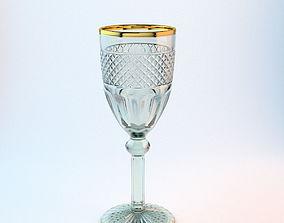 burgundy Wine glass 3D