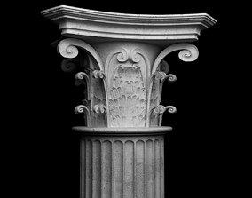 Corinthian coloumn 3D model
