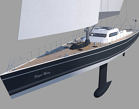 Sailboat 3D model motorboat