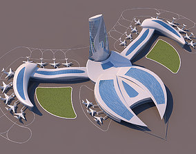 3D model Air Port Organic Form