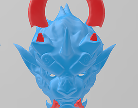 3D printable model Lion demon mask