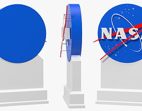 3D Kennedy Space Center NASA Insignia