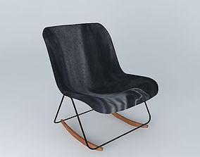 Armchair black GUARICHE 3D model