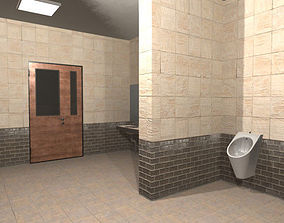 3D asset Restroom - interior