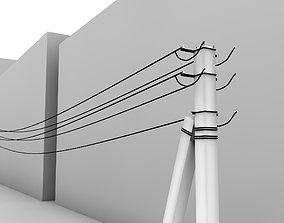 3D asset Power line