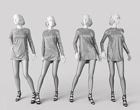 3D Woman Mannequin realistic