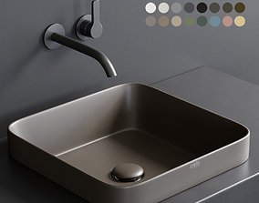 Ceramica Cielo Enjoy 40 Rectangular Washbasin 3D asset