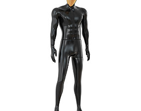 3D model Male mannequin with golden face 70