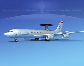 3D model Boeing E-3C Sentry OK USAF