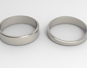 3D print model Joy Couple Ring Platinum Polished