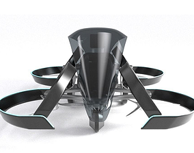 SkyDrive Toyota drone taxi concept 3d model Vray