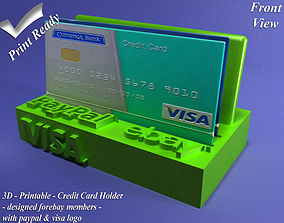 Credit Card Holder pay 3D printable model