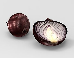 Onion 3D model game-ready