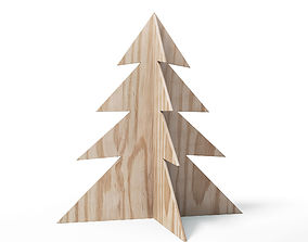 3D model Plywood Christmas Tree Decoration