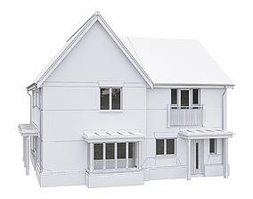 Neighborhood Houses P05 3D asset