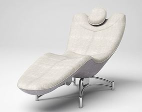 3D Grey Lounged Armchair