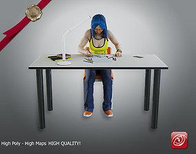 Student Female AAS 2130 006 3D model