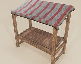 3D model Merchant Stall
