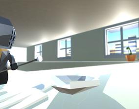 LOW POLY Chibi Knight V5 3D model