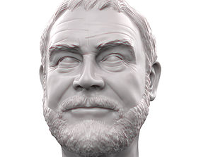 Sean Connery 3D printable portrait sculpture
