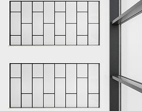 Panoramic glazing Stained glass 45 3D asset game-ready