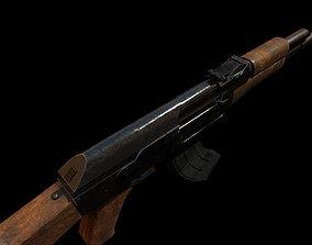 Low poly AK 47 3D model VR / AR ready