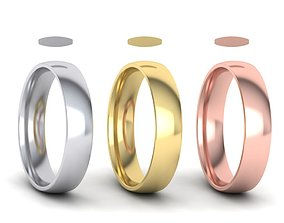 Traditional Court Wedding band 3D print model