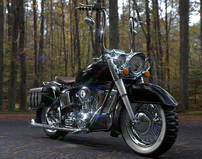 Custom Motorcycle 3D asset