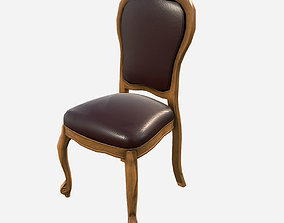 Low Poly PBR Dining Chair 3D asset
