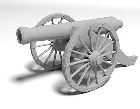 war cannon for 3D print