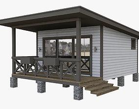 Wood-frame House 1 3D model