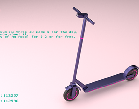3D model Scooter 1