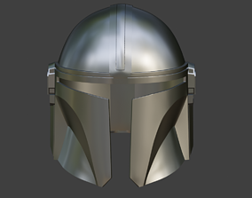 3D print model Mandalorian helmet armor from Star Wars