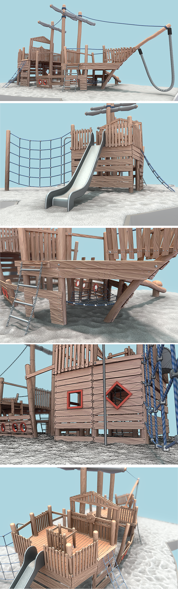 Playground Wood Ship - Final Version