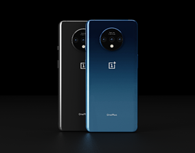 OnePlus 7t In All Official Colors Bundle 3D asset