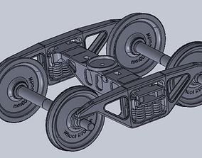 3D model Diamond bogie frame