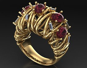 straight fashion ring 3D print model